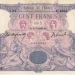 Un billet de 100 francs de 1895. DR.