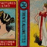 Boîte d'allumettes du XIXe siècle.
