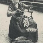Une vendeuse des rues en Provence. DR.