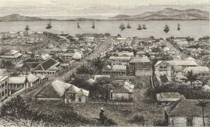 Nouméa (Nouvelle-Calédonie) en 1883. Album de la Société de géographie de l'Est, 1883. Bibl. nat.