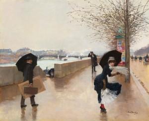 Jean Béraud (1846-1936), Le vent.