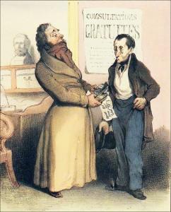 Médecin et son patient au XIXe siècle. H. Daumier. DR.