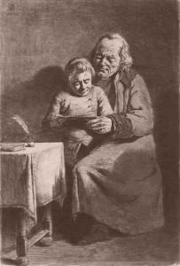 Jean-Jacques de Boissieu, Le petit maître d'école, 1770.