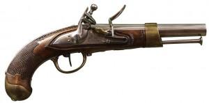 Un pistolet d'arçon. Début XIXe siècle. DR.
