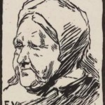 Tête de vieille femme, Félix Vallotton, 1891. BnF.
