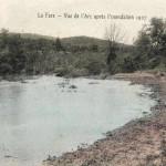 L'Arc au niveau de l'étang de Berre lors d'une inondation (1907). DR.