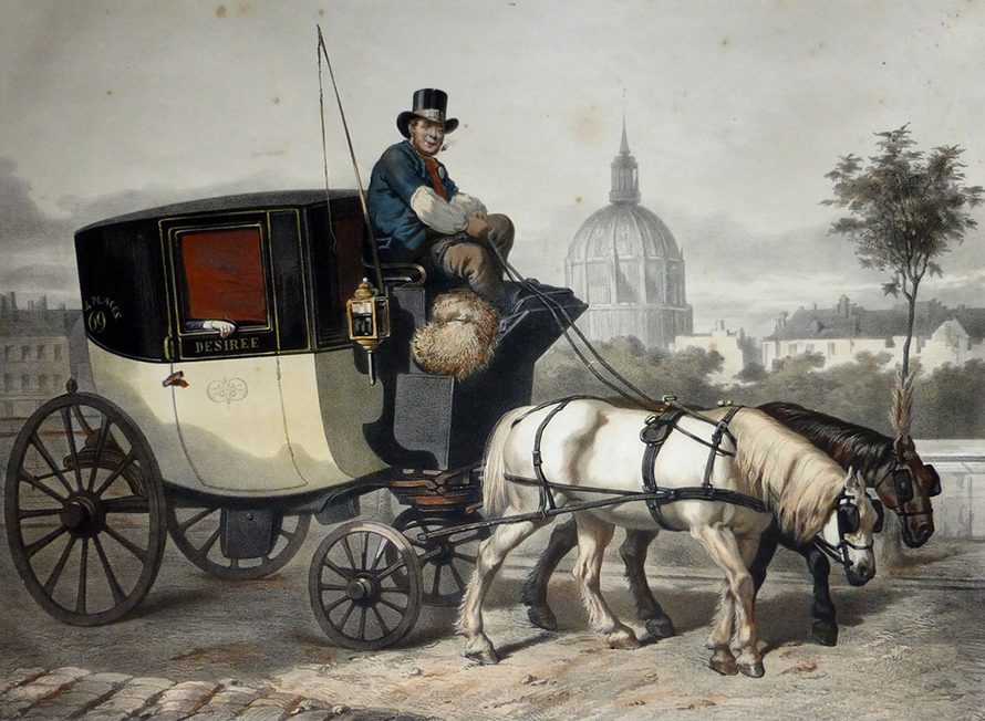 Voiture vers 1880. DR.
